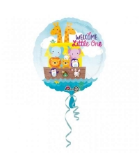 Balon folie Welcome Little One animalute