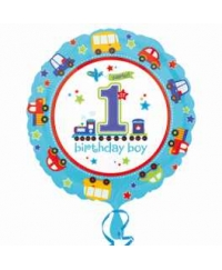 Balon folie sweet 1st birthday all aboard boy