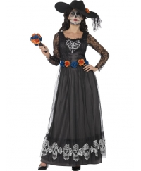 Costum Halloween femei schelet mireasa Day of the Dead