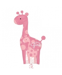 Balon folie girafa IT'S A GIRL